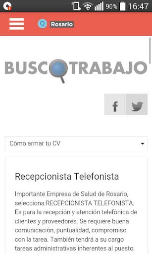 Busco Trabajo Rosario|玩生產應用App免費|玩APPs