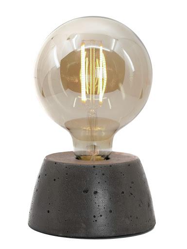 Lampe béton couleur noir création fait-main atelier français de la marque Junny