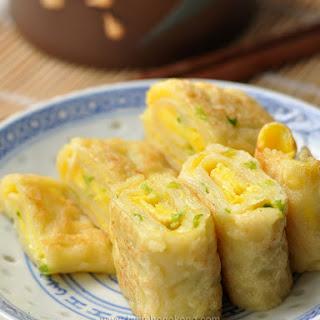 Egg Pancake Rolls, Chinese and Taiwanese Street Food.