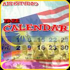 """Calendar 2018 """"Malaysia"""" icon"""