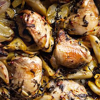 Roasted Chicken with Jerusalem Artichoke and Lemon Recipe