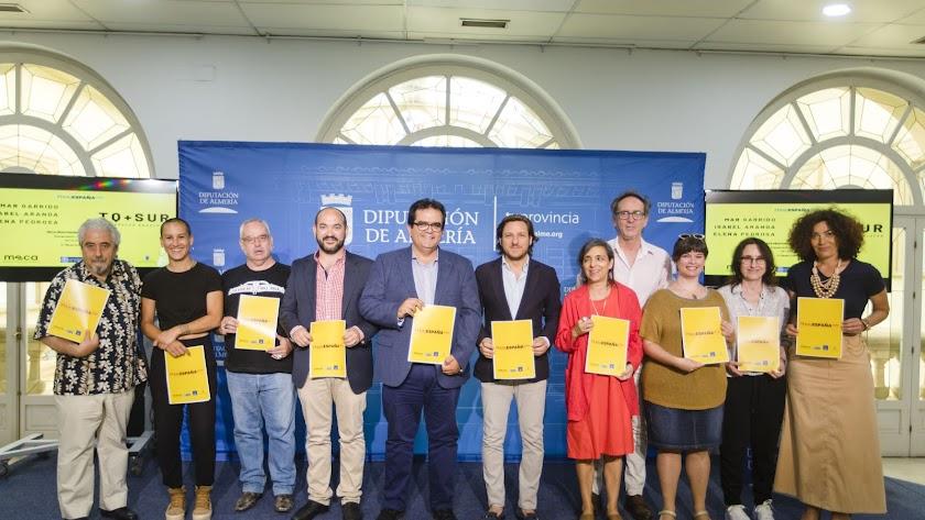 Fotógrafos e implicados en el paso de 'PhotoEspaña' por Almería.