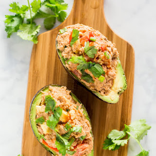 Spicy Tuna Avocado Boats.