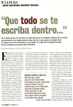 Photo: Artículo sobre José Antonio Muñoz Rojas, con Guadalupe Arbona, Revista Huellas, diciembre 2009