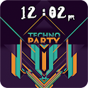 Techno Party Go locker theme icon