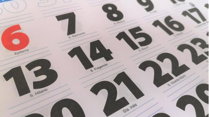Imagen de archivo de calendario anual.