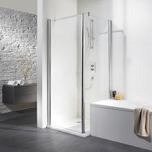 Duschkabinen_11 Exklusiv Drehtür mtit wegschwenkbarer Seitenwand