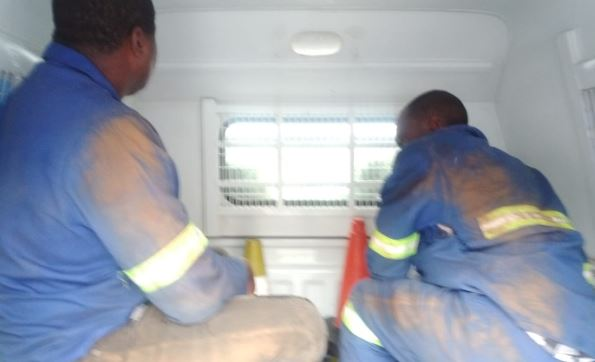 Two suspects arrested for robbing a telecommunications tower in Edenvale ahead of a shoot-out at a nearby school.