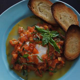 Burrata with White Wine and Garlic Sautéed Tomatoes