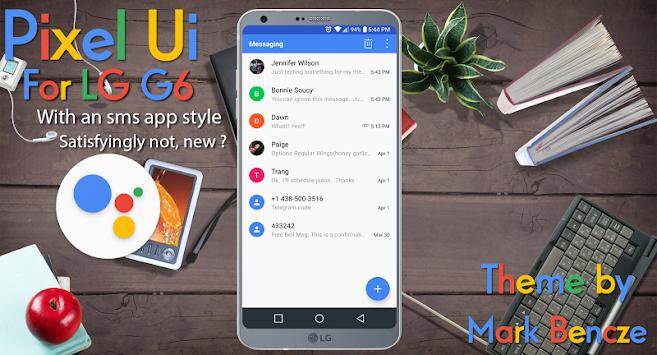 Download Pixel UX Theme for LG G6 by Mark Bencze Theme