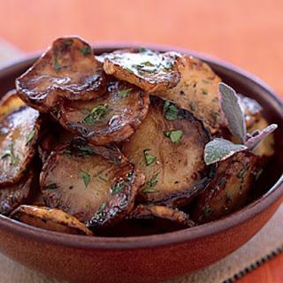 Pan-Fried Jerusalem Artichokes in Sage Butter