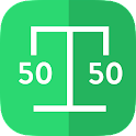 Split Scale 50/50 - scale app icon
