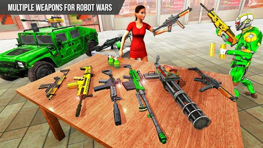 Army Robot Rope hero – Army robot games 2