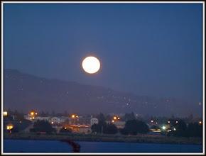 Photo: Moon rising over Berkeley