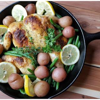 Lemon Pepper - Flat Roasted Chicken.