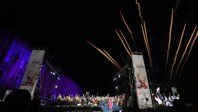 Fuegos artificiales en el fin de fiesta del concierto de Feria de la OCAL con Inés de Inés (Foto: OCAL-Juan Sánchez).