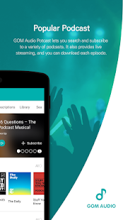 GOM Audio - Music, Sync lyrics, Podcast, Streaming- screenshot thumbnail