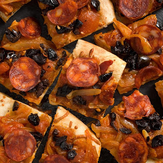 Chorizo and Olive Flatbread