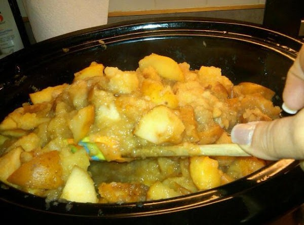 After two hours, remove lid and stir apples.  Replace lid and cook additional...