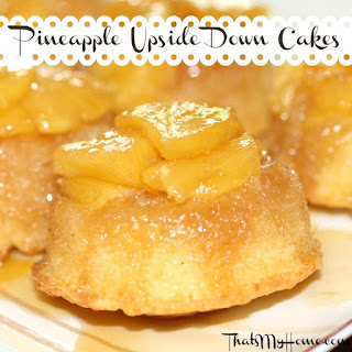 Pineapple Upside Down Cake with Fresh Pineapple.