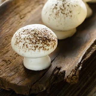 Aquafaba Meringue Mushrooms.