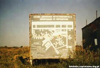 Photo: Schemat lotniska koło małej wieży kontroli lotów