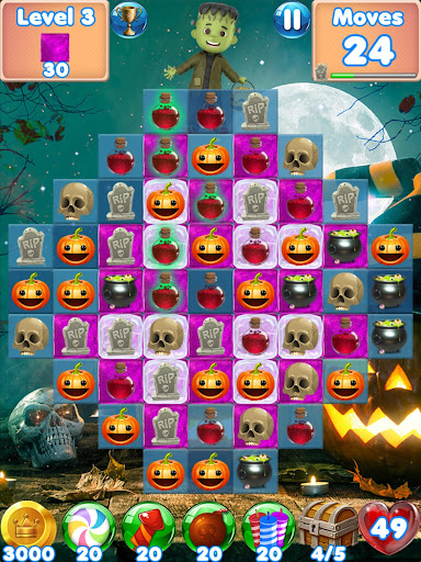 Halloween Games 2 - fun puzzle games match 3 games screenshots 7