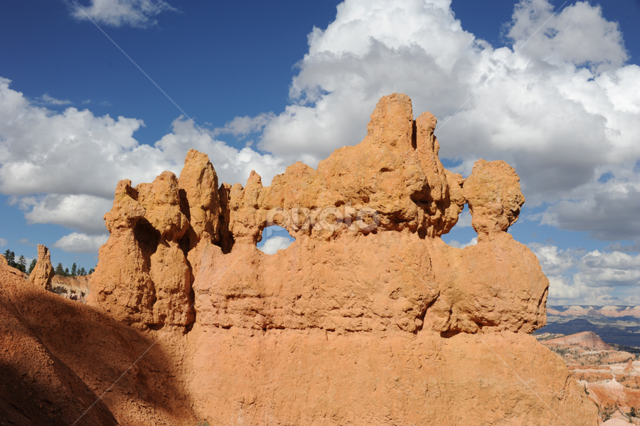Bryce Canyon by Alexandria Shankweiler - Landscapes Mountains & Hills ( orange, sky, mountain, park, blue, utah, canyon, brown, clous )