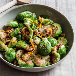 Sautéed Brussels Sprouts with Orange and Walnuts