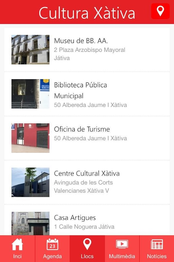 Cultura Xàtiva- screenshot