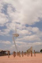 Photo: Scuptures by Arata and Aiko Isozaki, Palau Sant Jordi, Olympic Complex, Barcelona