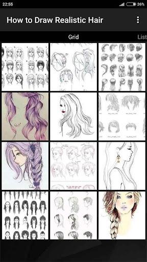 How to Draw Realistic Hair  screenshots 1