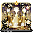 Golden Glitter Diamond Crown Theme icon