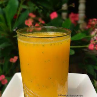 Mango-Orange Cus-Cus Juice.