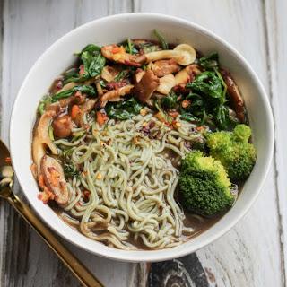 Vegan Mushroom Ramen Soup