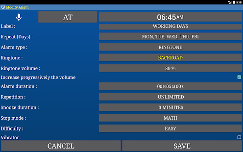 Alarm Plus Millenium (Alarm Clock and more) Screenshot