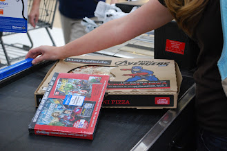 Photo: We were on a mission. Pizza...check. Movie...check. Missionaccomplished!