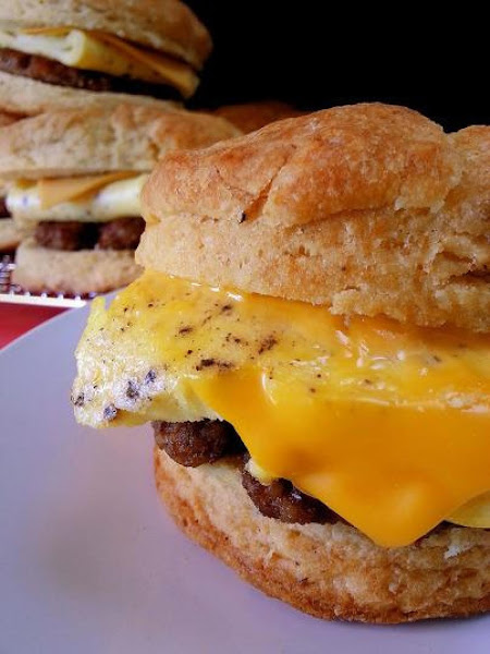 Sausage, Egg & Cheese Biscuit Sandwiches Recipe