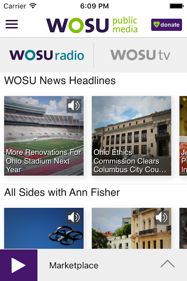 WOSU Public Media App- screenshot