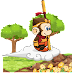 Cute King Monkey Runner icon