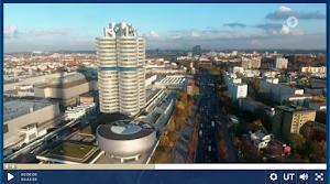 Aus Video: Blick auf BMW-Türme, München.