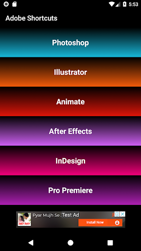 Shortcuts For Adobe 1.1 Apk for Android 1