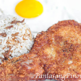 Crusted Pork Chop with Adobo Rice.
