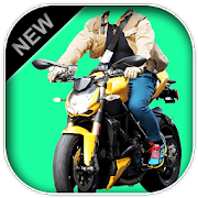 Man Bike Rider Photo Suit 2019