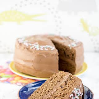 Milk Chocolate Birthday Cake.