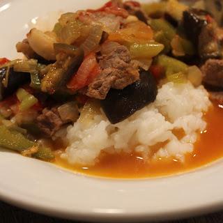 Eggplant Stew Etli Patlican Yahni.