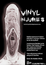 Photo: Invitation for Vinyl Injuries event. Design by Michael Nolan.