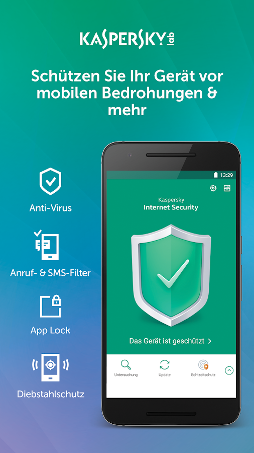 Kaspersky Mobile Antivirus: Web Security & AppLock – Screenshot