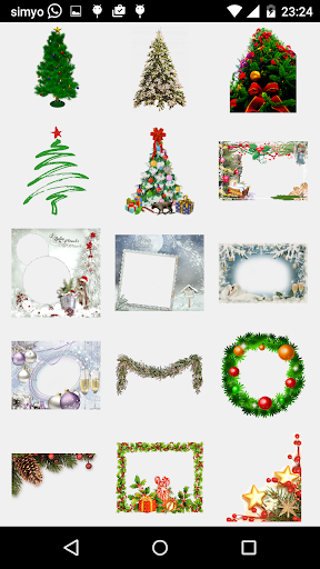 merry christmas photo stickers screenshot 3