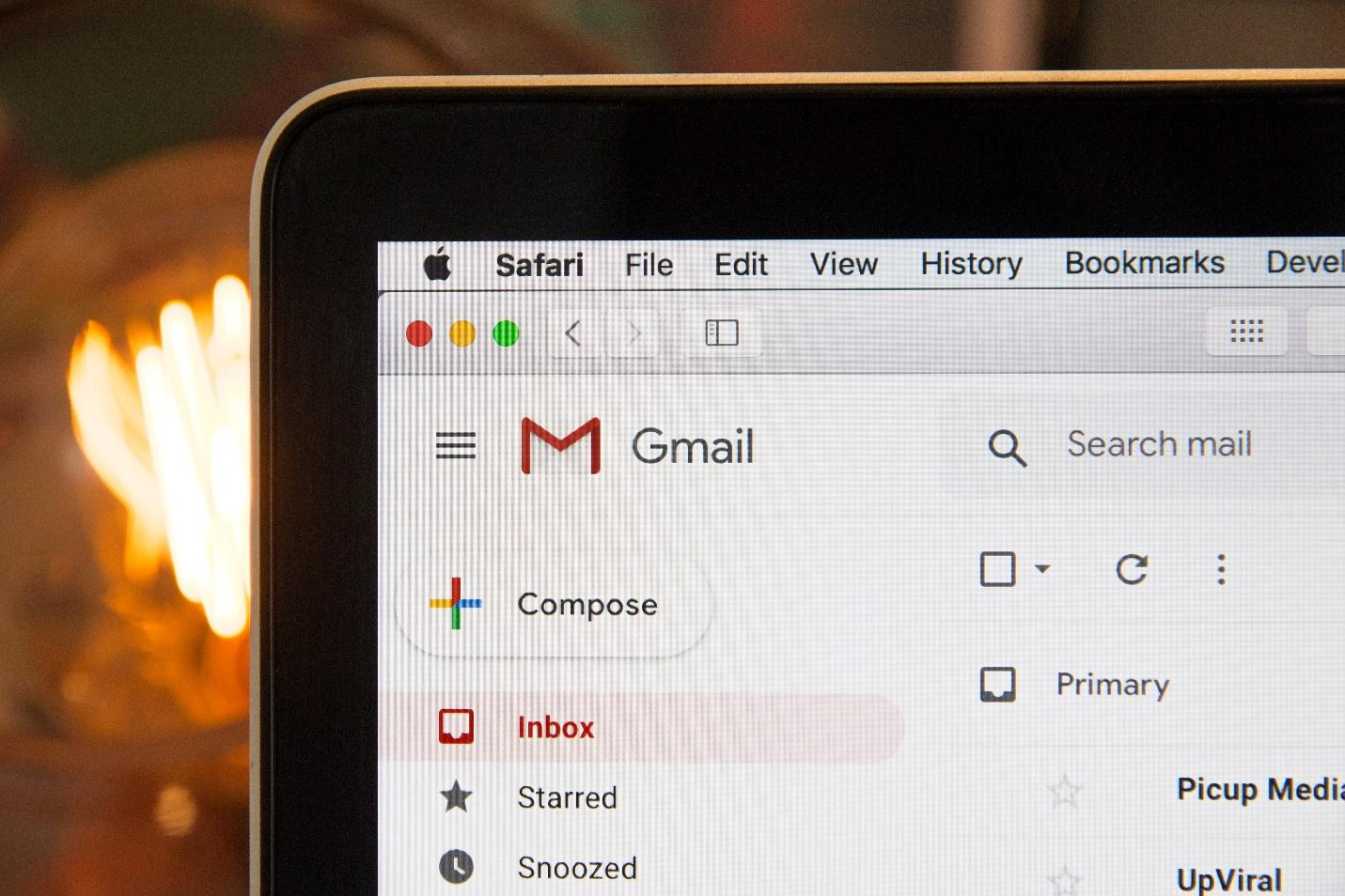 A Gmail home page
